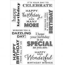 """Hero Arts Clear Stamps 4""""X6"""" Birthday Wishes - HA-CL611"""