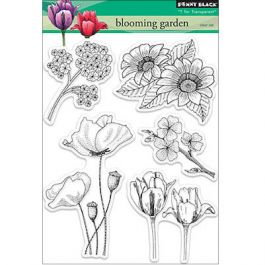 Penny Black Clear Stamps Blooming Garden - PB30155