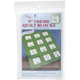 "Jack Dempsey Stamped White Quilt Crib Top 40/""X60/""-Baby Blocks"