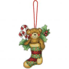 "Dimensions/Susan Winget Plastic Canvas Ornament Kit Bear 3.25""X4.5"" (14 Count) - 70-08894"