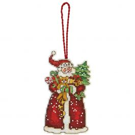 "Dimensions/Susan Winget Plastic Canvas Ornament Kit Santa 2.75""X4.75"" (14 Count) - 70-08895"
