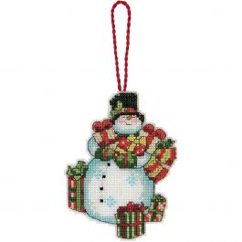 "Dimensions/Susan Winget Plastic Canvas Ornament Kit Snowman 3.25""X4.5"" (14 Count) - 70-08896"
