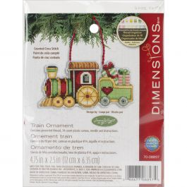 "Dimensions/Susan Winget Plastic Canvas Ornament Kit Train 3.75""X2.25"" (14 Count) - 70-08897"