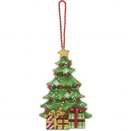 "Dimensions/Susan Winget Plastic Canvas Ornament Kit Tree 3""X4.75"" (14 Count) - 70-08898"