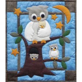 Owl Family Wall Quilt Kit Owl Family - K0912