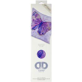 "Diamond Dotz Diamond Embroidery Pillow Facet Art Kit Mauve Flutter 17.5""X17.5"" - DD16005"