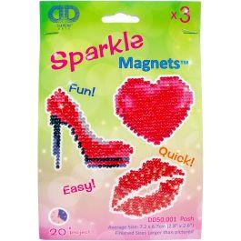 Diamond Dotz Diamond Magnets Facet Art Kit Assorted Posh 3/Pkg - DD50001