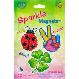 Diamond Dotz Diamond Magnets Facet Art Kit Assorted Luck 3/Pkg - DD50003
