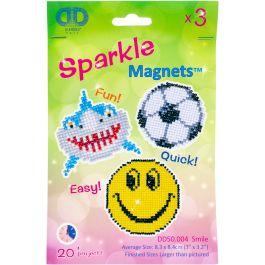 Diamond Dotz Diamond Magnets Facet Art Kit Assorted Smile 3/Pkg - DD50004