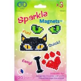 Diamond Dotz Diamond Magnets Facet Art Kit Assorted Fur 3/Pkg - DD50005