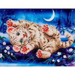 "Diamond Dotz Diamond Embroidery Facet Art Kit 17""X13.75"" Baby Tiger Roly Poly - DD5005"