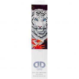 """Diamond Dotz Diamond Embroidery Facet Art Kit 17.25""""X21.75"""" White Tiger In Autumn - DD7006"""
