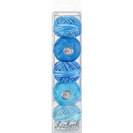 Handy Hands Lizbeth Specialty Pack Cordonnet Cotton Size 10 Turquoise Twist 5/Pkg - DP10-7134