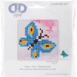 "Diamond Dotz Diamond Embroidery Facet Art Kit 4.75""X4.75"" Butterfly Sparkle - DDS002"