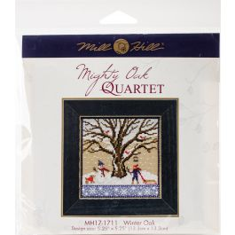 "Mill Hill Counted Cross Stitch Kit 5.25""X5.25"" Winter Oak (14 Count) - MH171711"