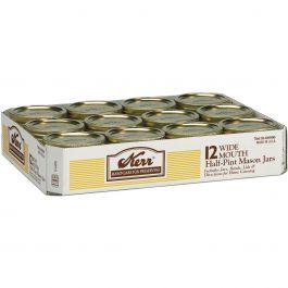 Kerr(R) Wide Mouth Mason Jar 1/2 Pint, 8Oz - 500
