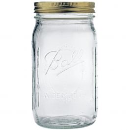 Ball(R) Wide Mouth Canning Jar 12/Pkg Quart, 32Oz - 67000
