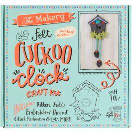 The Makery Felt Craft Kit Cuckoo Clock - MAKE011