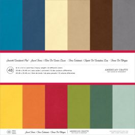 "American Crafts Smooth Cardstock Pack 12""X12"" 48/Pkg Jewel Tones - AM71825"