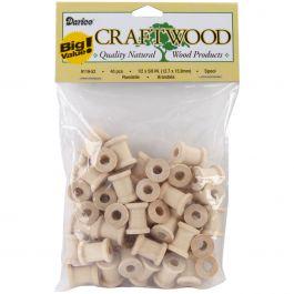 "Wood Turning Shapes Spool .5""X.625"" 40/Pkg - 9119-52"
