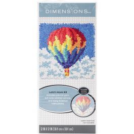 "Dimensions Latch Hook Kit 12""X12"" Hot Air Balloon - 72-75195"