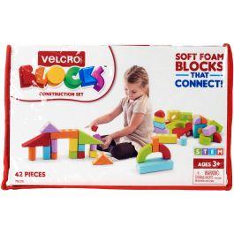Velcro(R) Blocks(TM) Construction Set-Assorted Sizes, Shapes & Colors 42/Pkg