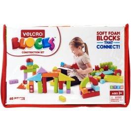 Velcro(R) Blocks(Tm) Construction Set Assorted Sizes, Shapes & Colors 60/Pkg - 70187