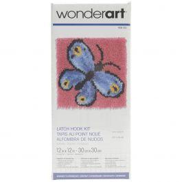 "Caron Wonderart Latch Hook Kit 12""X12"" Butterfly - 426133C"