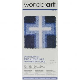 "Caron Wonderart Latch Hook Kit 12""X12"" Cross Of Light - 426153"