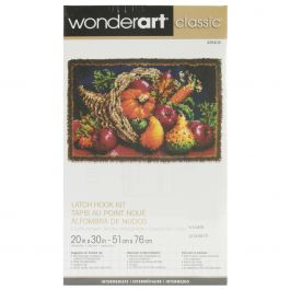"Caron Wonderart Classic Latch Hook Kit 20""X30"" Country Harvest - 426405"