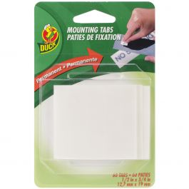 """Double Sided Mounting Tabs White .5""""X.75"""" 60/Pkg - 297472"""