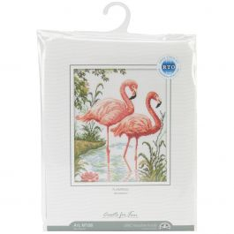 """Rto Counted Cross Stitch Kit 10.25""""X12.25"""" Flamingos (14 Count) - M106"""
