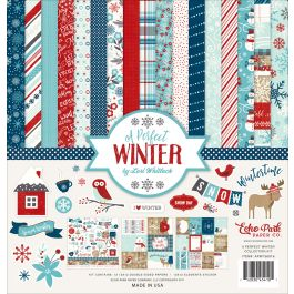 "Echo Park Collection Kit 12""X12"" A Perfect Winter - APWKIT-36016"