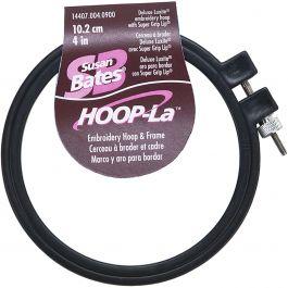 "Bates Hoop La Plastic Embroidery Hoop  Black Size 4"" - 14407B-4"