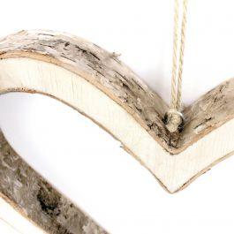 Large Hanging Bark Heart  - GHRTBG