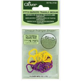 Triangle Stitch Markers Sizes 9 To 10.5 16/Pkg - 3150