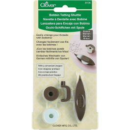 Clover Bobbin Tatting Shuttle Brown - 8106