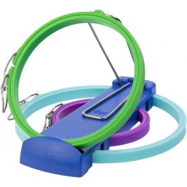 Boye Plastic Embroidery Hoops & Stand Set Of 3 With Springform Closure - 600000