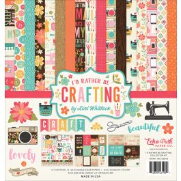"""Echo Park Collection Kit 12""""X12"""" I'D Rather Be Crafting - IBCKIT-38016"""
