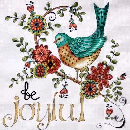 "Design Works Counted Cross Stitch Kit 10""X10"" Heartfelt Be Joyful (14 Count) - DW2789"