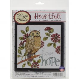 """Design Works Counted Cross Stitch Kit 10""""X10"""" Heartfelt Have Hope (14 Count) - DW2790"""