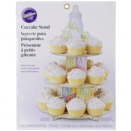 "Treat Stand Baby Feet 12""X17.5"" Holds 24 Cupcakes - W1492"