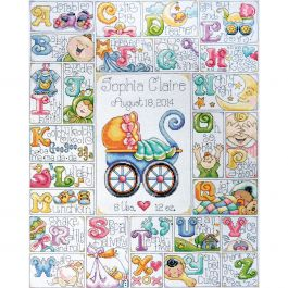 "Design Works Counted Cross Stitch Kit 16""X20"" Baby Abc (14 Count) - DW2770"