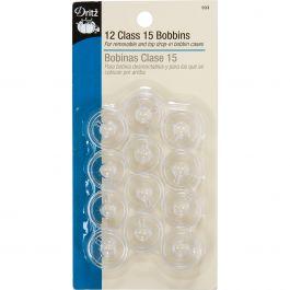 Dritz Class 15 Bobbins 12/Pkg Plastic - 933