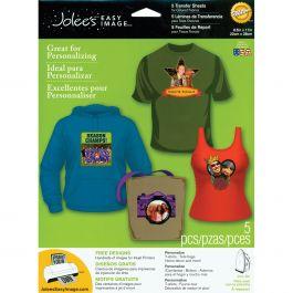 """Jolee'S Easy Image Transfer Sheets 8.5""""X11"""" 5/Pkg For Dark Fabrics - 56-47008"""