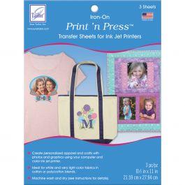 """Print 'N Press Iron On Transfer Paper 8.5""""X11"""" 3/Pkg White - JT908"""