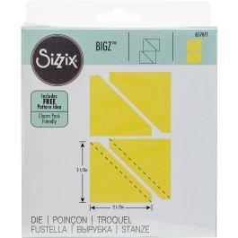 """Sizzix Bigz Dies Fabi Edition Half Square Triangles 2.5"""" Assembled - 657611"""