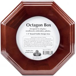 "Sudberry House Mahogany Octagon Box 6""X6""X2.75"" Design Area 4""X4"" - 99381"