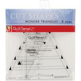Dritz Quilt Sense Wonder Triangles Rulers 8 Sizes - 85013