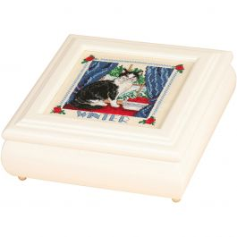 "Sudberry House White Betsy Square Box 8""X8""X2.75"" Design Area 5""X5"" - 99522"